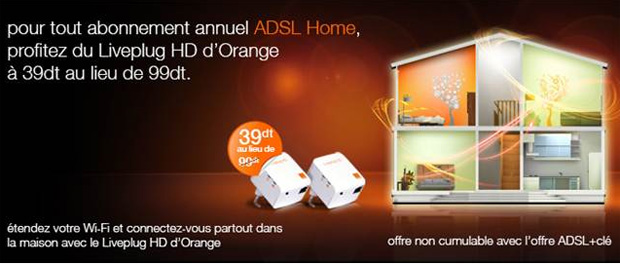 orange annonce le liveplug hd la connexion adsl via le circuit lectrique. Black Bedroom Furniture Sets. Home Design Ideas