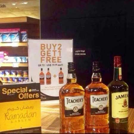 Qatar, fait offres vente d'alcool spécial Ramadan BN16501Whisky-Ramada