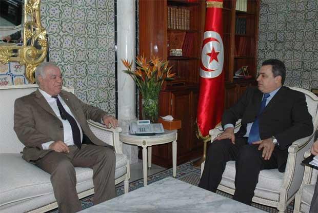 tunisie mehdi jom a re oit l 39 ambassadeur d 39 alg rie en tunisie abdelkader hajjar. Black Bedroom Furniture Sets. Home Design Ideas