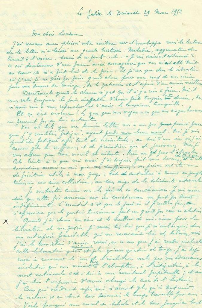 Des lettres de Bourguiba retrouvées dans un appartement parisien BN23148lettre-bourguiba