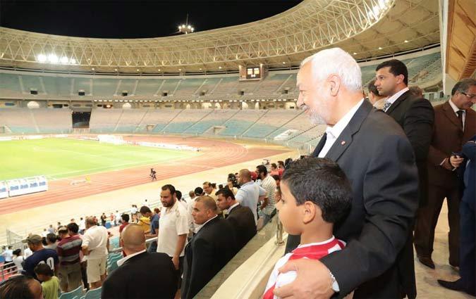 Rached ghanouchi assiste au match for Porte 8 stade rades