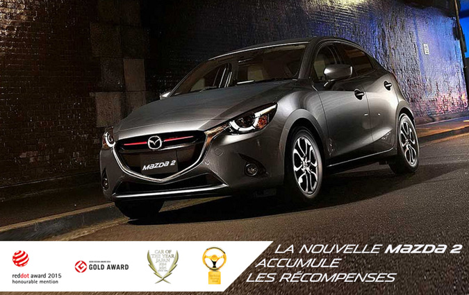 la nouvelle mazda2 accumule les r compenses. Black Bedroom Furniture Sets. Home Design Ideas