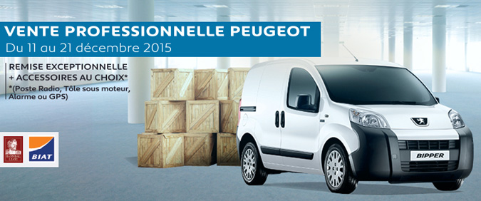 stafim organise la vente professionnelle peugeot du 11 au 21 d cembre 2015. Black Bedroom Furniture Sets. Home Design Ideas