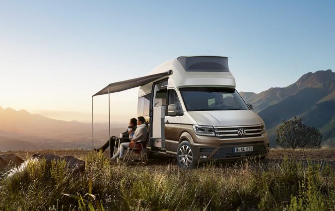 california xxl le concept de camping car bas sur le volkswagen crafter. Black Bedroom Furniture Sets. Home Design Ideas