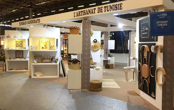 Les artisans tunisiens prennent part au salon for Salon tissage paris