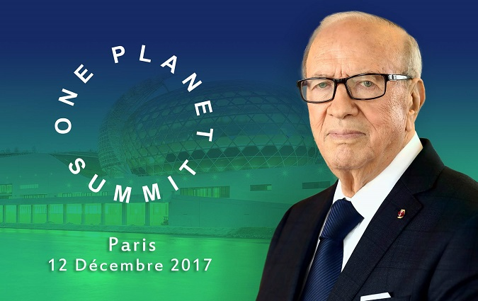 Béji Caïd Essebsi prend part au One Planet Summit à Paris