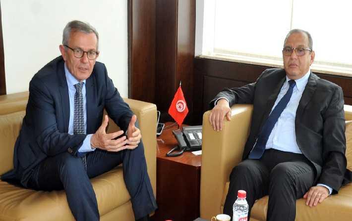 La coopération tuniso-allemande objet d'une rencontre entre Samir Majoul et Andreas Reinicke
