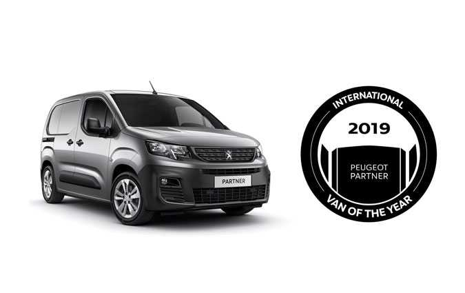 Le nouveau Peugeot Partner élu International Van Of The Year 2019