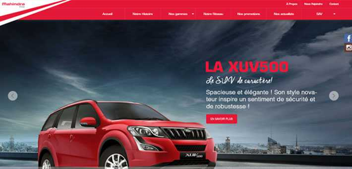 Mahindra lance officiellement son site internet