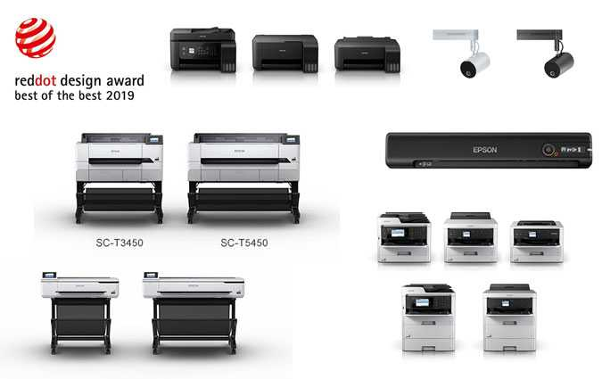 Red Dot Award : Les imprimantes Epson primées