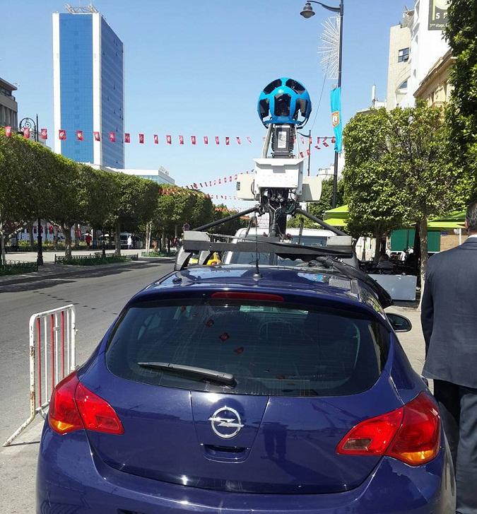 Demarrage De L Application Google Street View Dans Les Rues De Tunis