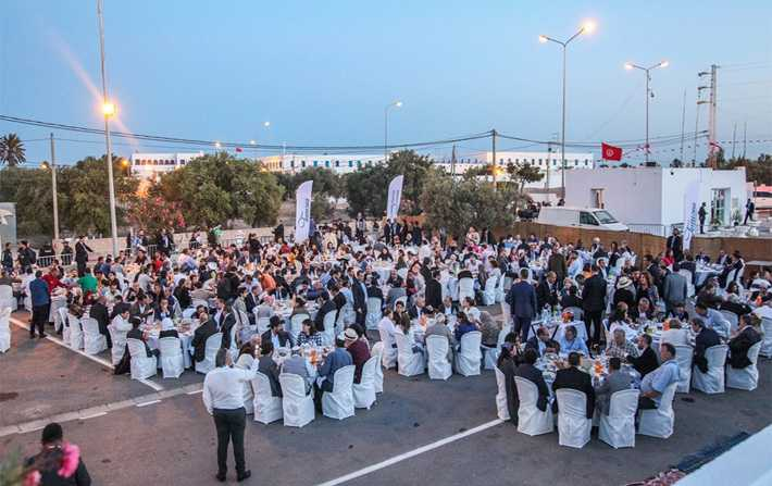 En photos - Un iftar collectif à la Ghriba