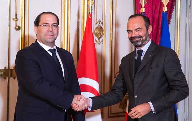 Rencontre entre Youssef Chahed et Edouard Philippe